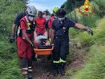 vigili del fuoco intervento Prato Fiorito Bagni di Lucca