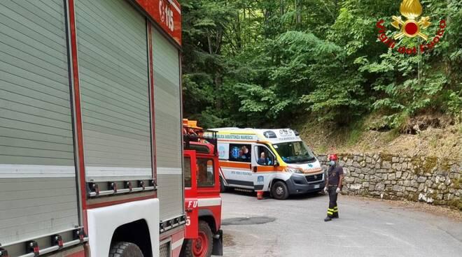 vigili del fuoco Sast soccorsi Merizzino Maresca Pistoia montagna pistoiese