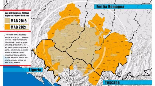 Ampliamento della riserva uomo e biosfera dell'Appennino tosco-emiliano