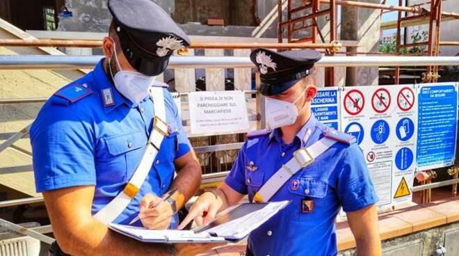 Cantieri al setaccio dei carabinieri di Massa: a caccia di irregolarità