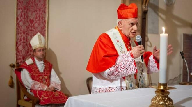 Cardinale Ernest Simoni in visita a Bucciano