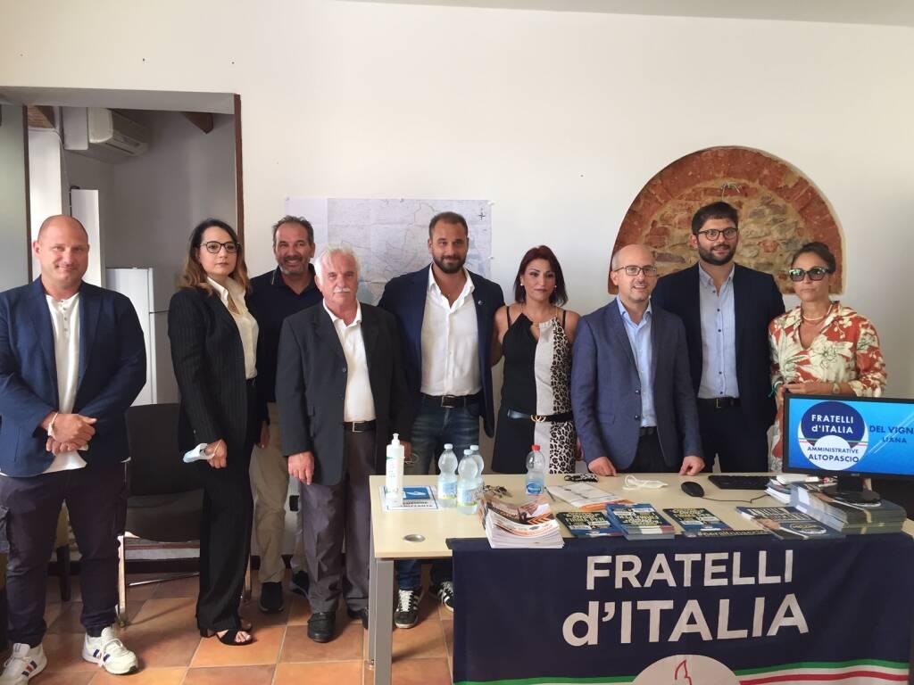 Elezioni Altopascio presentazione lista Fratelli d'Italia