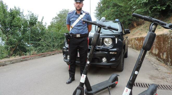 furto monopattini carabinieri grosseto