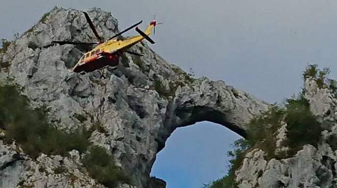 intervento Soccorso Alpino Monte Forato