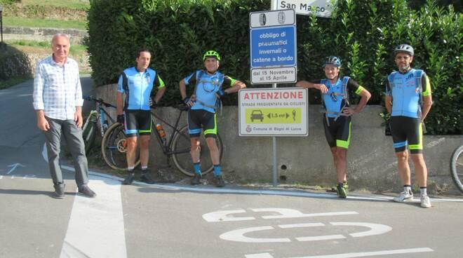 """""""Io rispetto il ciclista"""" Bagni di Lucca"""