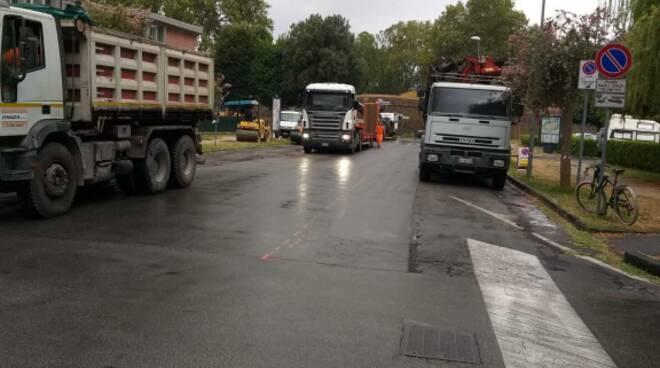 lavori di asfaltatura circonvallazione lucca