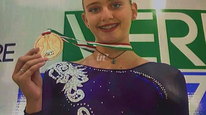 Letizia Orsini di Marti nella polisportiva Stella Rossa di pattinaggio artistico