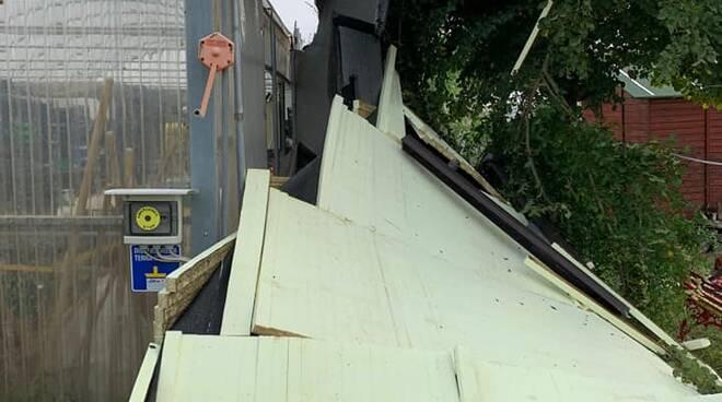 Maltempo, gravi danni alla cooperativa Sinergica degli Ortolani Coraggiosi Ventignano, Fucecchio
