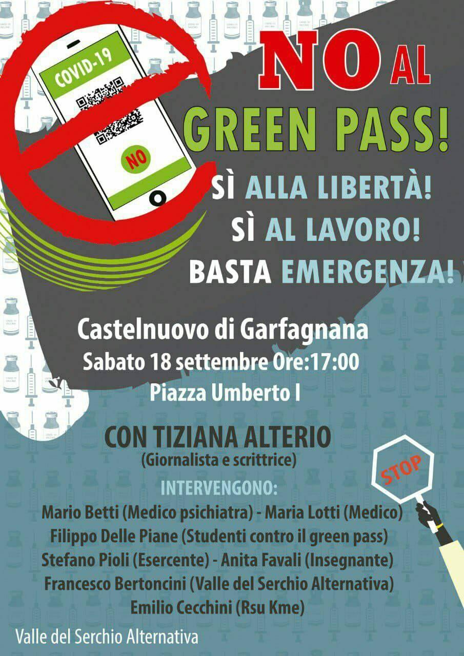 Manifestazione no green pass castelnuovo