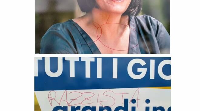 manifesto imbrattato Sara D'Ambrosio