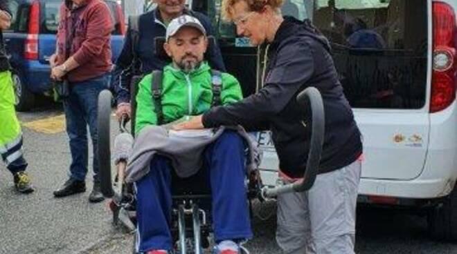 Matteo Gamerro Marco Remaschi Coreglia Ghivizzano joelette Misericordia Croce Verde