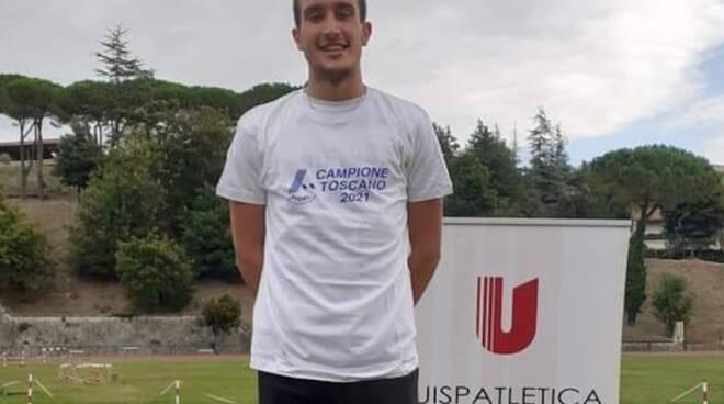 Mattia Paterni Virtus Lucca campione toscano juniores 110 ostacoli