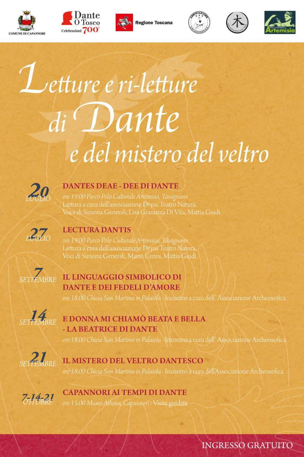 programma Dante Alighieri Capannori