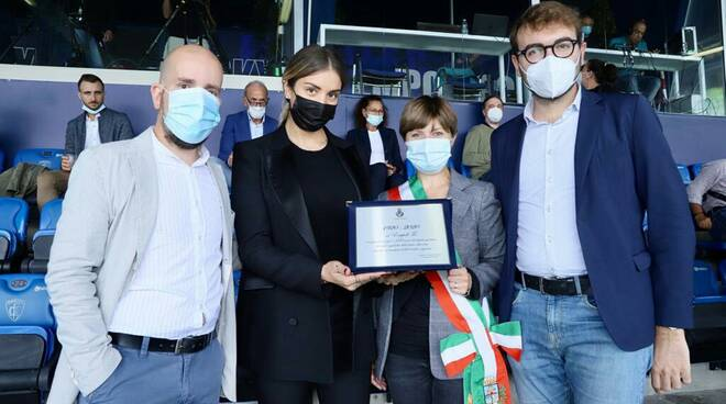 targa a Empoli Fc dal sindaco