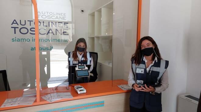 A Colle Val d'Elsa la nuova biglietteria di Autolinee Toscane