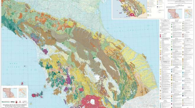 carta geografica appennino settentrionale