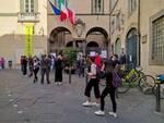 ex manifattura la protesta a palazzo santini